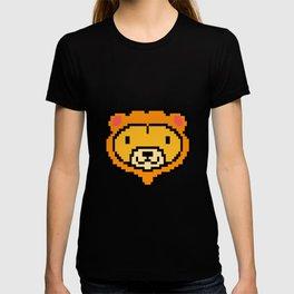 Pixel Lion Game Console Computer 16 Bit Vinatge Retro Gift Idea T-shirt