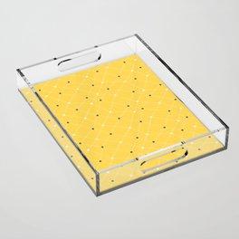Chemistry Class Doodles - Yellow Acrylic Tray
