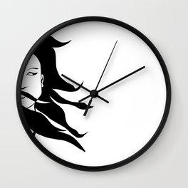 WOMAN PORTRAIT | Digital illustration Wall Clock