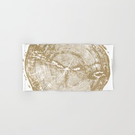 Sundance Pine, Tree ring print Hand & Bath Towel