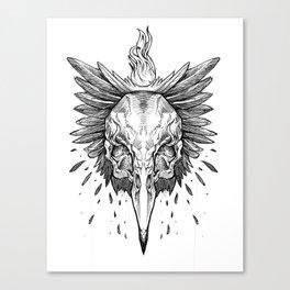 A Raven's Crime Canvas Print