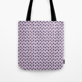 Inky Purple Poppy Pattern Tote Bag