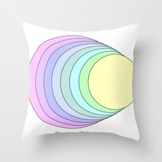 rainbow pastel Throw Pillow