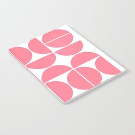 Mid Century Modern Geometric 04 Pink Notebook