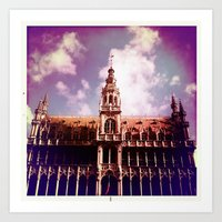 brussels Art Prints featuring Brussels by MAARRS
