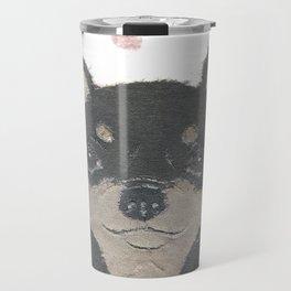 CHIHUAHUA, Dog, Black and Tan Chihuahua Travel Mug