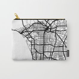 LOS ANGELES CALIFORNIA BLACK CITY STREET MAP ART Carry-All Pouch