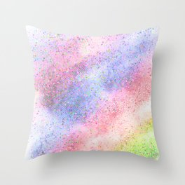 Glitter dust Throw Pillow