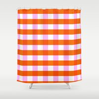 allyson johnson Shower Curtains featuring Allyson by Anh-Valérie