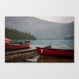 Quiet morning on the lake Canvas Print