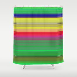 colorful horizontal lines Shower Curtain