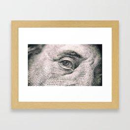 Benjamin Franklin Eye Framed Art Print