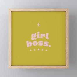 girlboss Framed Mini Art Print