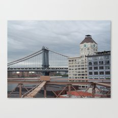 Brooklyn Bridge, New York City,  View of Hudson River, Skyline, Architecture,  Canvas Print