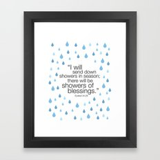 Showers of blessings Framed Art Print