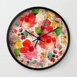 joyful floral decor Wall Clock
