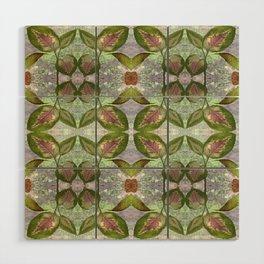 Coleus Leaves Pattern Wood Wall Art