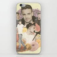 liam payne iPhone & iPod Skins featuring Liam Payne + Flowers by Ladsandstuff