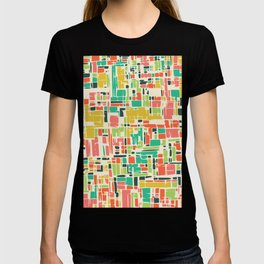 Road map abstract pattern T-shirt