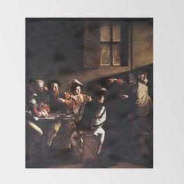 Caravaggio The Calling of Saint Matthew Throw Blanket