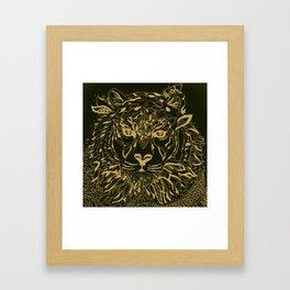 Golden Tiger Framed Art Print