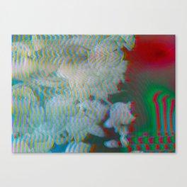 Analogue Glitch Radioactive Bouquet Canvas Print