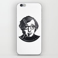 woody allen iPhone & iPod Skins featuring Woody Allen by Alejandro de Antonio Fernández