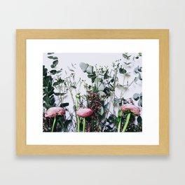 Floral Peeks Framed Art Print