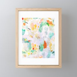 toto: abstract painting Framed Mini Art Print