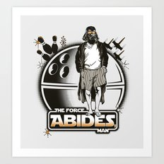 The Force Abides Art Print