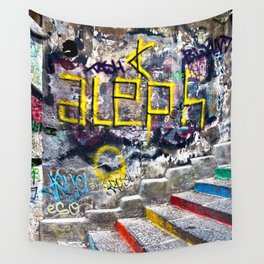 Sicilian Facade with Graffiti Wall Tapestry