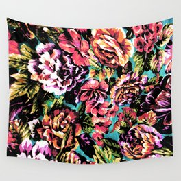 Psychedelic Flowerz Wall Tapestry