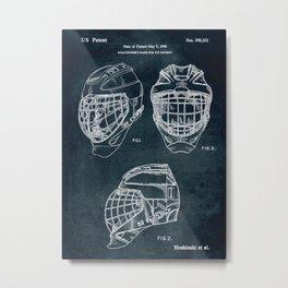 1995 - Goaldtender's mask for ice hockey Metal Print