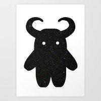 taurus Art Prints featuring Taurus by Leandra Lilly Dreyer