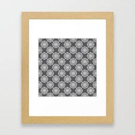 Kitchen cutlery dark circles Framed Art Print