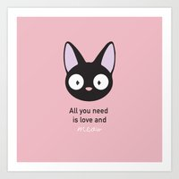 All you need is love and meow! Art Print