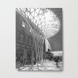 Concourse at King's Cross Metal Print