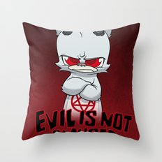 Cranky Evil Throw Pillow
