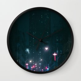 Night Life New York City (Color) Wall Clock