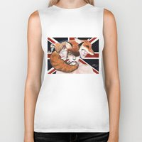 union jack Biker Tanks featuring Union by Melpo