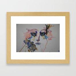 Hazey Eyes Framed Art Print