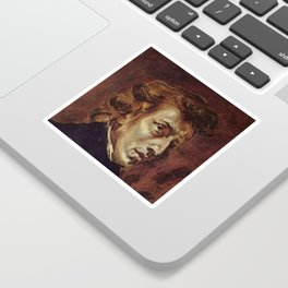Eugene Delacroix- Portrait of Chopin Sticker