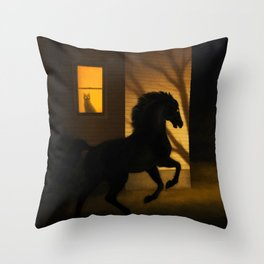 Shadows in the Suburb Throw Pillow