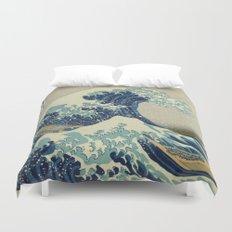 Great Wave Off Kanagawa (Kanagawa oki nami-ura or 神奈川沖浪裏) Duvet Cover