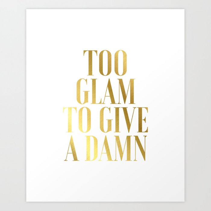 Quote Bedroom Decor Gold Foil Print
