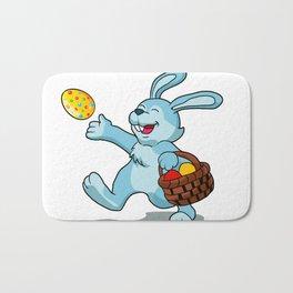 rabbit with Easter basket Bath Mat