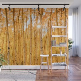 AUTUMN ASPENS OF COLORADO Wall Mural
