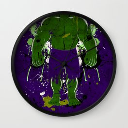 Splash of Hulk Wall Clock