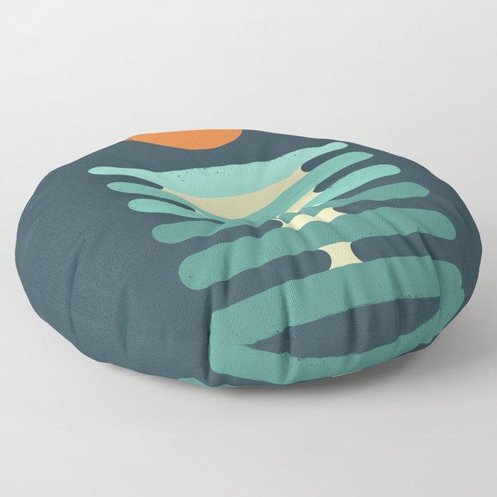 Minimalist ocean Floor Pillow