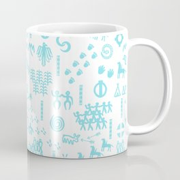 Peoples Story - Turquoise and White Coffee Mug